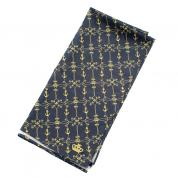 navy/golden scarf