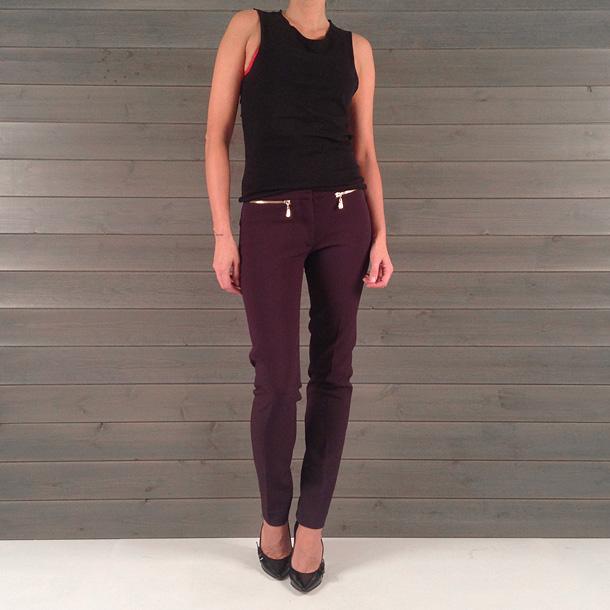 d7f9316ceb2 QueenB - NAISTE RIIDED JA JALANÕUD - luksuslikud ploomilillad püksid,  suurus XS